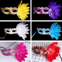 Wholesale Halloween Masks Masquerade Women Girls Sexy Animal Flower Feather Mask Dance Party Holiday Mask Venetian Eye Mask Christmas