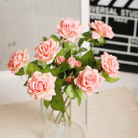 Wholesale 20pcs Moisturizing Rose Artifical Flower Silk Flowers Floral Latex Real Touch Wedding Bouquet Home Party Furnishing Decoration