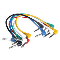 Wholesale High Quality set Multicolor Guitar Cables Angled for Guitar Effect Pedals High Quality Guitar Patch Link Cables