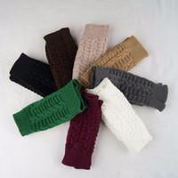 Wholesale Women Winter Fingerless Gloves Unisex Hand Arm Warmer Knitted Mitts Long Female Gloves Mittens