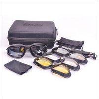 Gafas tácticas de la margarita C5 Ejército militar 4 lentes al aire libre gafas de deportes UV caza de senderismo gafas de los hombres gafas de guerra juego de vidrio CCA5466 50set