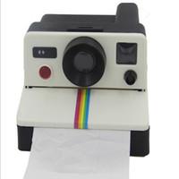 Wholesale Creative s Style Cute Retro Polaroid Camera Shape Inspired Toilet Paper Holder Toilet Roll Box Tissue Dispenser S399