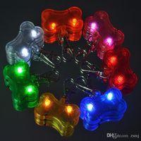 Wholesale 7 Colors Pet Dog Tag Pendant Safety Supplies LED Luminous Pendant Ornaments Glowing Pet Supplies Pets Tags BY DHL