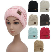 Wholesale DHL Free Kids knitted Warm Cotton Beanie Skull CC hats Children s Crown Hat Caps Christmas Gift Color