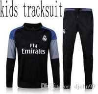 Wholesale 2017 real madrid Children wear Tracksuits top quality ronaldoTraining suit High Neck Tracksuits Children s football training jack
