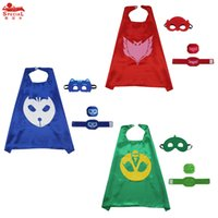 6T+ baby stage - L27 cm Classical PJ cape costume birthday party costume Carnival cartoon cosplay clothing baby boys girls Capes mask set