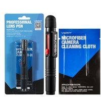 Wholesale Professional VSGO Brand Camera Lens Cleaning Pen Anti static Cleaning Brush No Dropping And Microfiber Cleaning Cloth Included