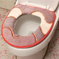 Wholesale Hot Sale Hook Loop Toilet Seat Cover Comfortable Bathroom Closestool Pad Soft Seat Lid Cover Mat CM