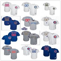 authentic cubs jerseys - Custom New World Series Champions Patch Chicago Cubs Gold Gray White Blue Authentic Stitched Personalized Baseball Jerseys Customized S XL