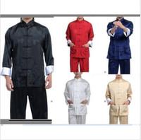 best silk pajamas - New Best Chinese men s Dress silk kung fu suit pajamas SZ M L XL XL XL Hot Selling