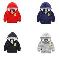 Wholesale letter bkmgrtspw zip up boys hoodie child cotton lining jacket fully borg fleece lined children keep warm sweatshirt kids winter cloth Y