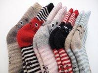 animal novelty socks - 2016 new Women Cartoon D Animal Striped Socks Novelty Patterned Sock Colorful Cat Footprints Cotton Socks Floor