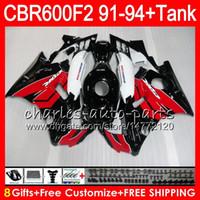 Comression Mold For Honda CBR600 F2 gloss black 8 Gifts 23 Colors For HONDA CBR600F2 91 92 93 94 red blk CBR600RR FS 1HM3 CBR 600F2 600 F2 CBR600 F2 1991 1992 1993 1994 Fairing