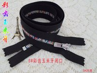 Wholesale Ykk3 zinc alloy tooth maize hand held the black zipper metal held zipper cmcolor teeth closed zipper