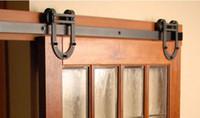 Wholesale 6 FT High Quality Steel Interior Sliding Barn Door Hardware for Single Door Wood Barn Door Hardware