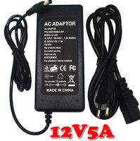 Wholesale DC V A W Power Supply Adapter Cord for LED Stirp Balance changer for strip US EU AU UK plug