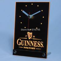 Wholesale tnc0090 Guinness Beer Ale D LED Table Desk Clock