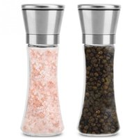 Wholesale Kitchen With Stainless Steel Waist Pepper Grinder Picnic Sesame Seasoning Grinder Two Loaded