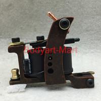 Wholesale New Professional Tattoo Machine Warps Coils Cast Iron Red Tattoo Gun For Beginner Shader Liner GAM09 B