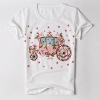 Women Pumpkin Car Printing Hot Woman Fashion Slim Tee Shirt Stretch Tops Summer Casual T-shirts