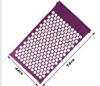 acupressure neck - Acupressure Mat Back Neck Massage Wellness Relax Body Health Relief Pain Purple