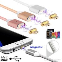 Wholesale 2 A Micro USB Magnetic Charging Metal PC Cable Charger for Android Cell Phone Type C Micro USB Android or Iphone