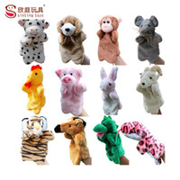 animal stories cow - New arrival zodiac hand puppets animal doll plush toy for telling story dog rabbit monkey tiger horse sheep cow mouse cook