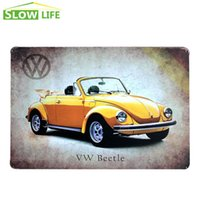 beetle convertible - VW Convertible Beetle Tin Sign quot x12 quot Metal Sign Bar Hotel Wall Decor Metal Plaque Vintage Home Decor Painting Retro Art Poster