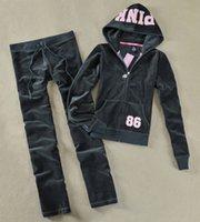 Wholesale Brand new tracksuit women new velvet suit sequins skinny women hoodies leisure sweatshirt