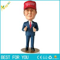 Wholesale New President of the United States Donald Trump Status Doll Furnishing Articles Bobblehead Christmas Gift SWISSANT