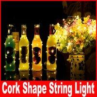 battery bottle warmer - 1m led m led Cork shape lights Bottle Mini String Lighting Copper Wire light Starry Light For Bottle DIY Christmas Wedding and Party