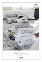 Wholesale Morden Bedding Set Duvet Cover Fitted Sheet Pillow Case Cotton Duvet Cover Twin Queen King