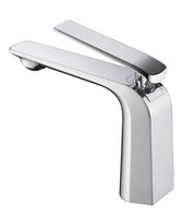 Wholesale All Chrome Full Copper Basin water Faucet fashion single handle single hole Bathroom basin Taps Brass mixer Each color Hot sell best new
