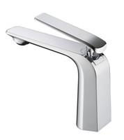 Wholesale Full Copper Basin Faucet fashion single handle Single Hole Bathroom basin Taps Brass Bathroom