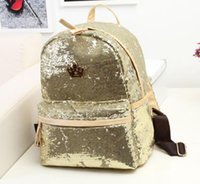 Backpack Style Women Stars designer backpacks sequin fashion leather gold silver purle black girl school bag special Bags free shipping