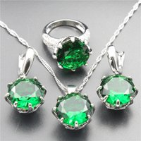 alexandrite engagement ring - Alexandrite jewelry collection of women s silver plated earring pendant necklace rings and bracelets free jewelry box