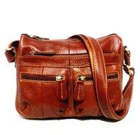 al por mayor garantía de cruz-Eather bolsos para las mujeres Garantía 100% de cuero genuino de las mujeres de cuero Messenger Bag Vintage Cross-Body Soft Casual Shopping Ba ...