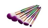 En stock 2017 Hot New Mermaid 5pcs / 7pcs Makeup Brush Colorful Gradient Brush Livraison Gratuite
