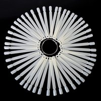 Wholesale Natural Transparent Nail Art Fan Board Polish UV Gel Display Nail Art Tips Stick Display Practice Manicure Tool Hot Sale