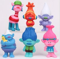 action toys collectibles - Trolls Action Figures Poppy Branch PVC Collectibles Dolls Anime Figurines Kids Toys for Christmas Gift Elves Troll Doll cm KKA1069