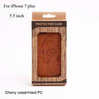 Designer Phone Skin pour iphone 7 plus Hybrid Couverture caoutchoutée [cherry Wood] couverture de téléphone cellulaire pour Apple iPhone7plus [5.5 inch]