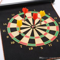 Wholesale 32cm cm Double sided Magnetic Dart Board Indoor Target Game Darts New With Bo Flying Disk Arrows Toys Double flocking dart target