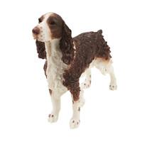 Perros perro de aguas Baratos-English Springer Spaniel Perro Figurine estatua de animal resina de perro adornos de vacaciones hechos a mano para la decoración del hogar regalo de Navidad