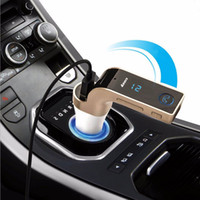 12V Mobile Phone Silver G7 car charger car kit MP3 player smartphone bluetooth MP3 radio player hands free FM transmitter modulator 2.1A support micro SD TF card