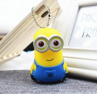 Wholesale 2016 promotion sales keychain cartoon Despicable Me keychain car pendant small yellow people Despicable Me Minion key chain doll gift