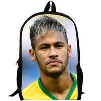 backpacks pictures - Colorful Neymar backpack Football star fans school bag Player icon daypack Picture schoolbag Outdoor rucksack Sport day pack