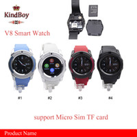 Wholesale 2016 V8 Smart Watch Bluetooth Watches Android with M Camera MTK6261D Smartwatch for android phone Micro Sim TF card with Retail Package
