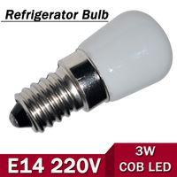 ac fridge - New Mini E14 W AC V V LED Candle lamp COB Bulb Chandelier light For Fridge Refrigerator Freezer