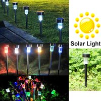 Wholesale Solar Lawn light Stainless Steel for Darden Decorative Solar Powered Outdoor Solar Lamp Luminaria Weather Water Resistant