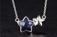 Wholesale Silver pendant necklace galaxy series star pendant sweet clavicle necklace chain Korean version of jewelry crafts